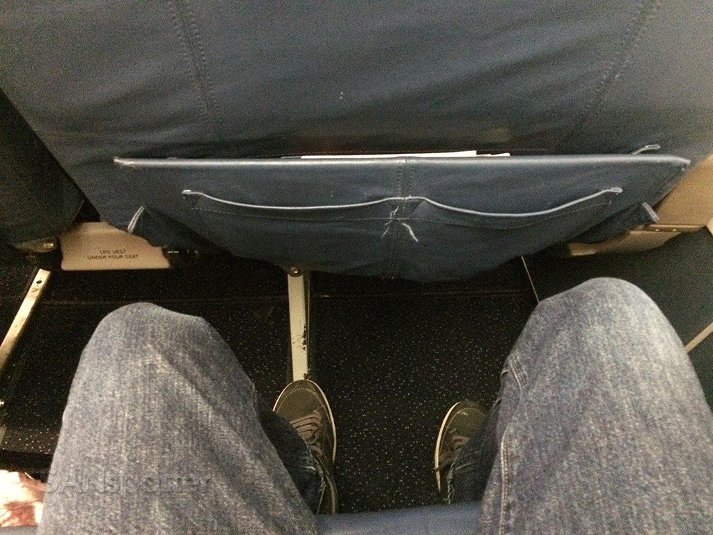 Delta A320 first class leg room