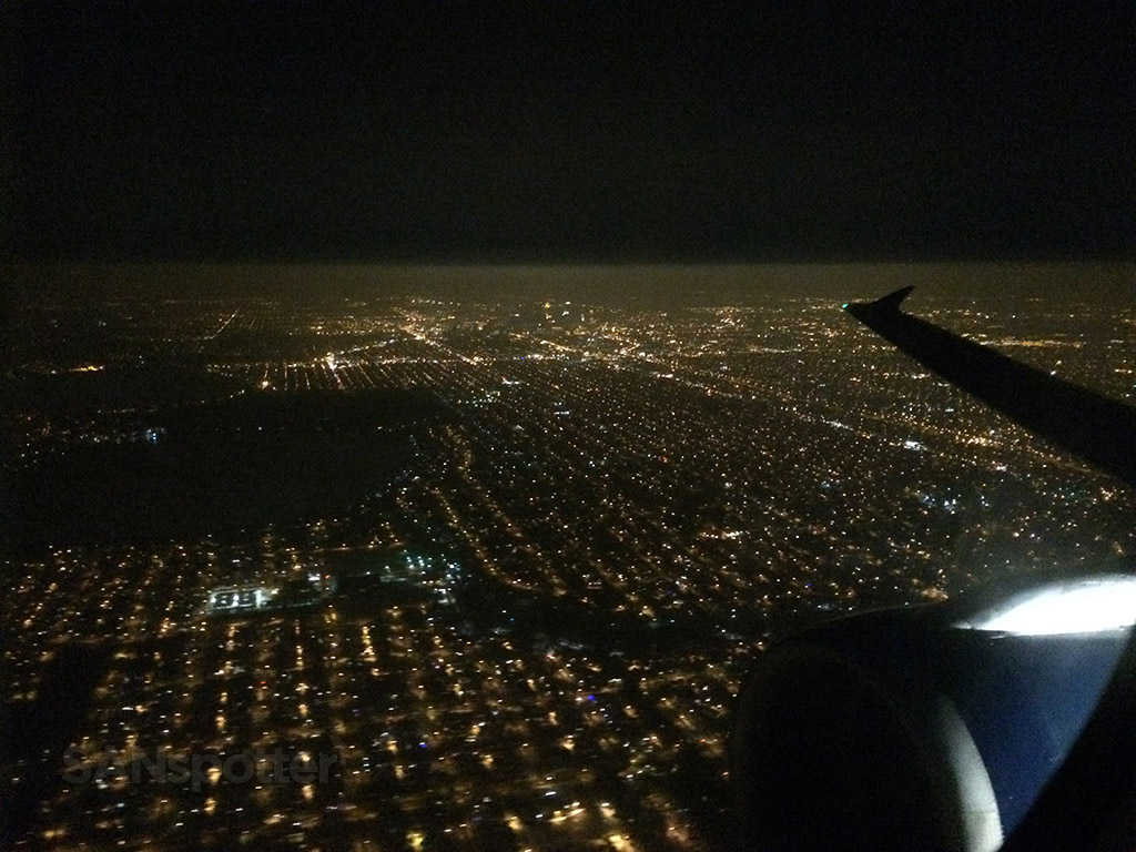 climbing out of MSP at night
