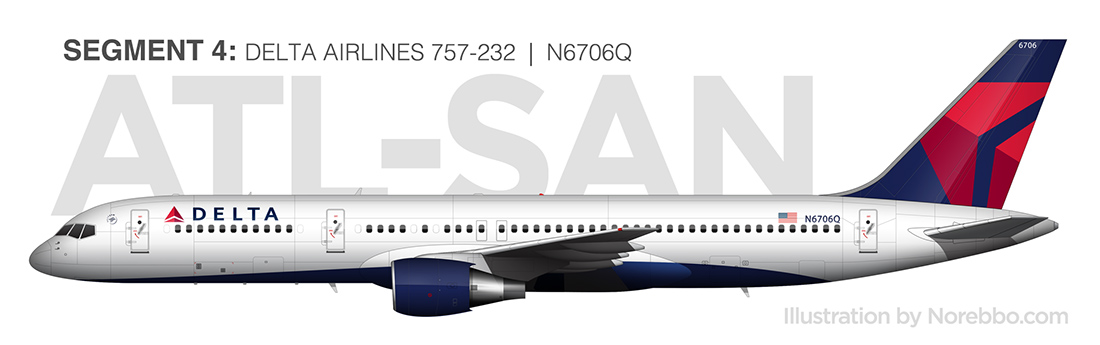 Delta 757-200 N6706Q side profile