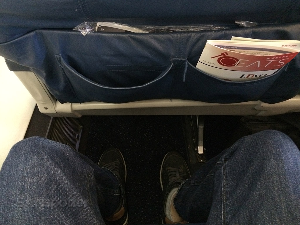 delta airlines 757-200 first class seat pitch