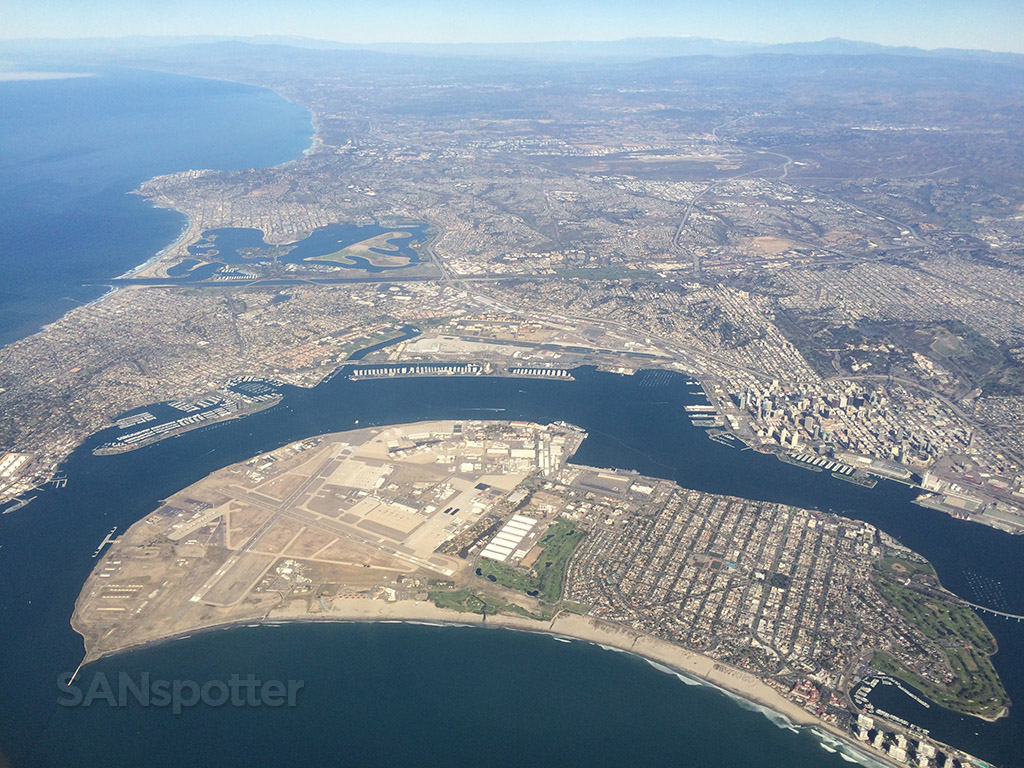 san diego as viewed from the air
