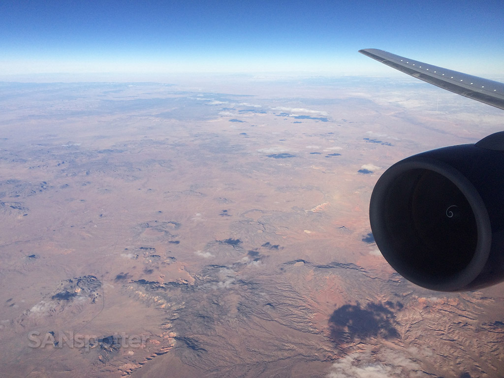 flying high above the american southwest