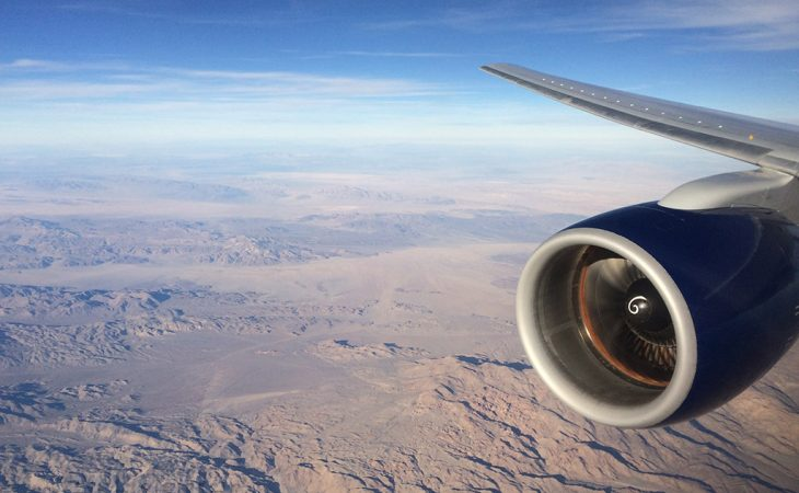 delta 757 wing view N6706Q