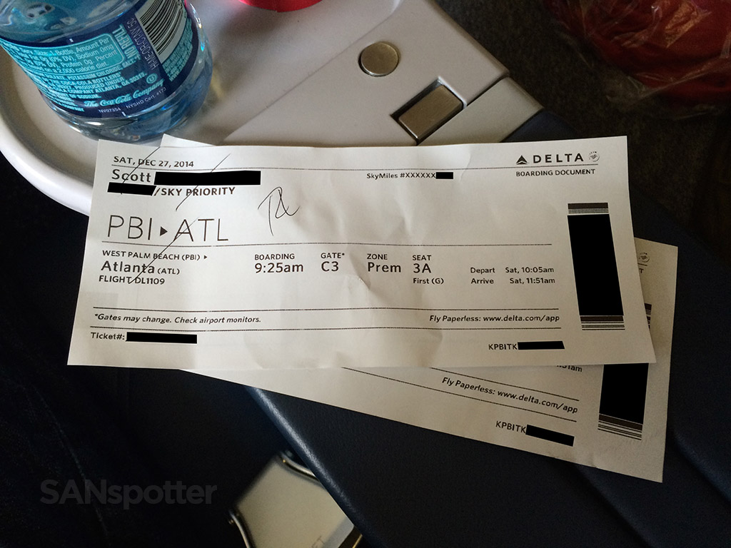 my delta first class boarding pass