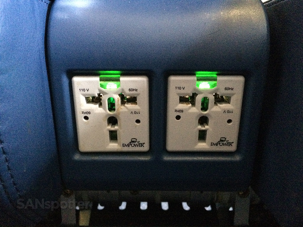 in seat power outlets delta first class