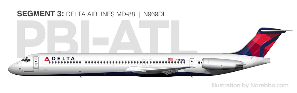 Delta Airlines MD-88 N969DL