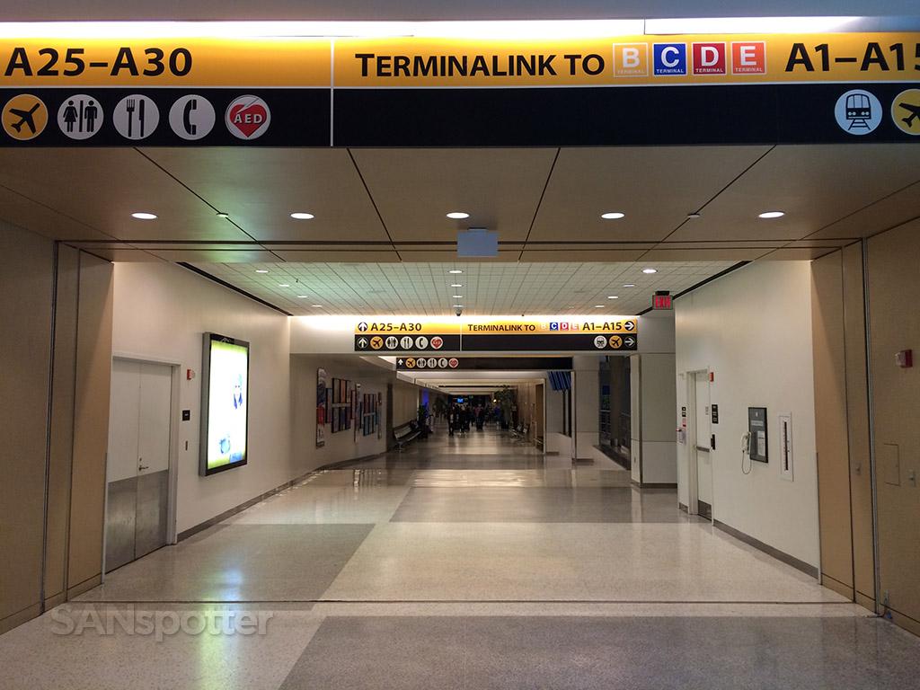 inside terminal A IAH