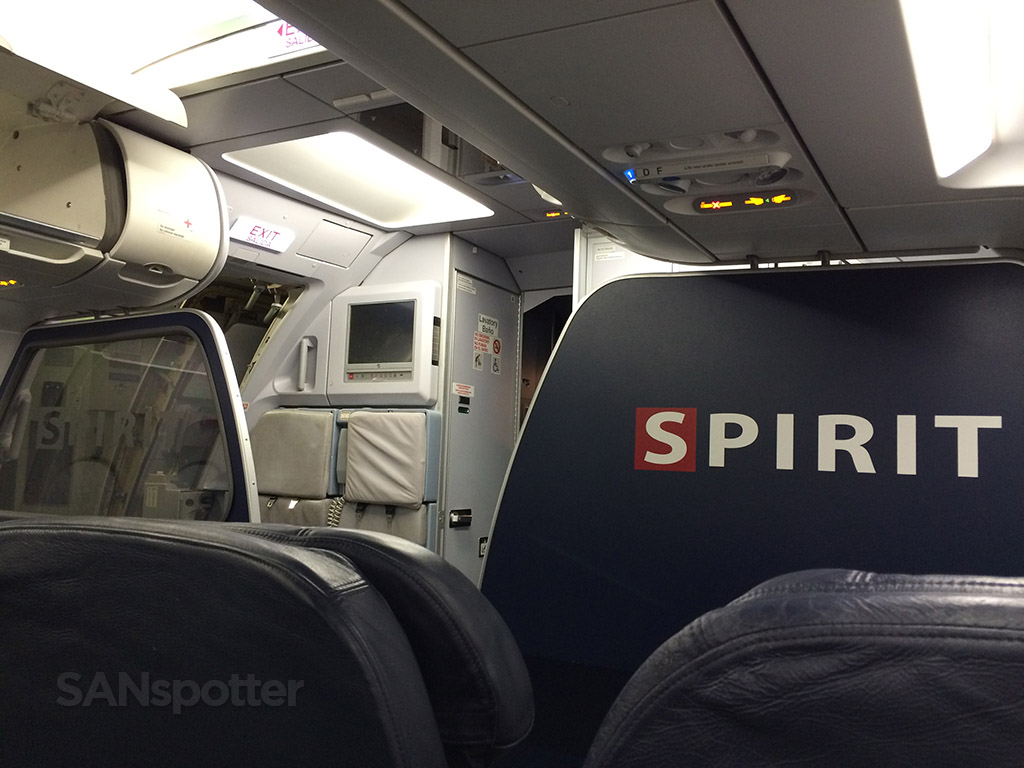 Spirit Airlines A319 forward bulkhead wall