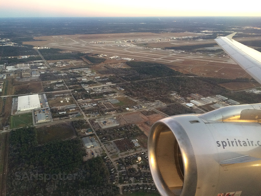 houston intercontinental airport from the air