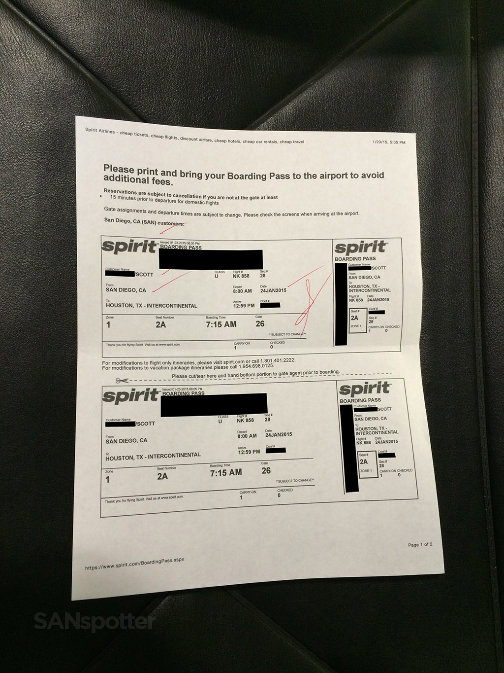 san diego to houston boarding pass