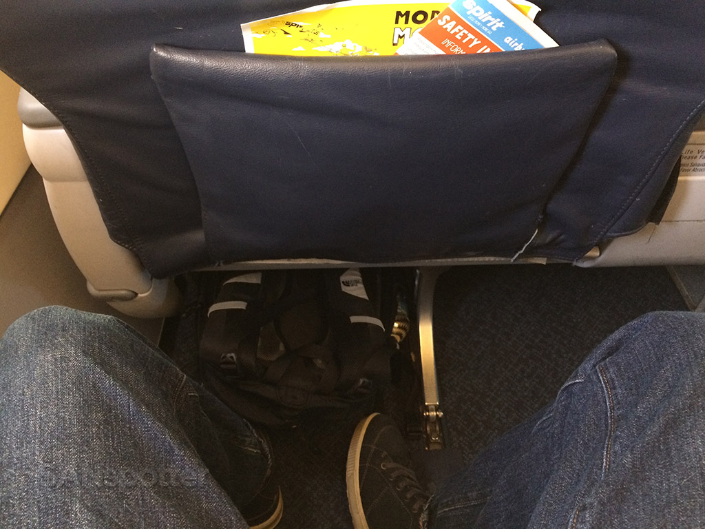 big front seat leg room on spirit airlines