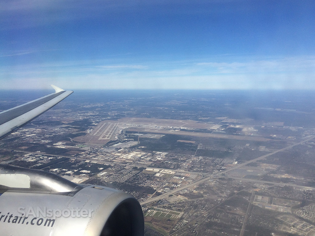 approaching IAH on the downwind leg for runway 27
