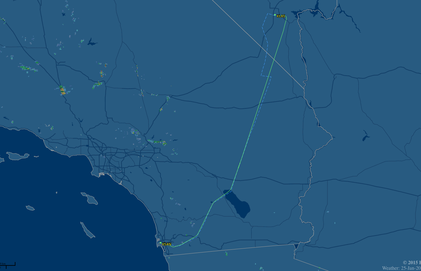 LAS-SAN route map