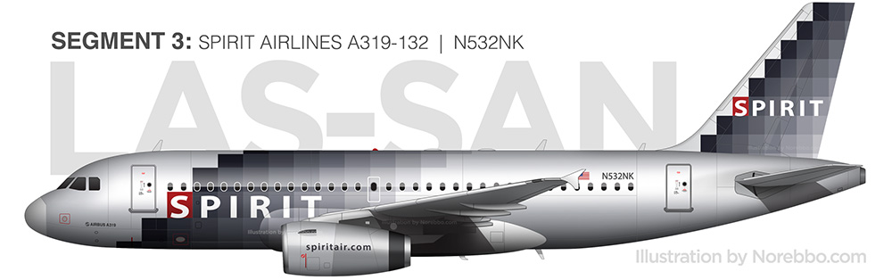 spirit airlines A319 silver pixel livery
