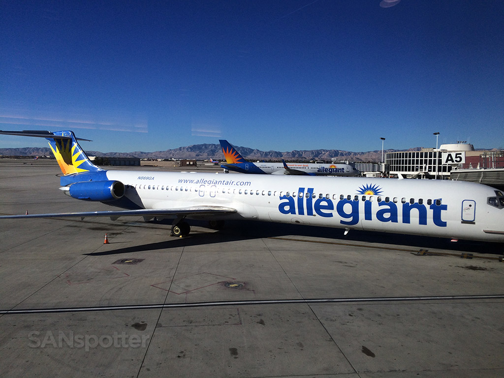 Allegiant airlines at LAS