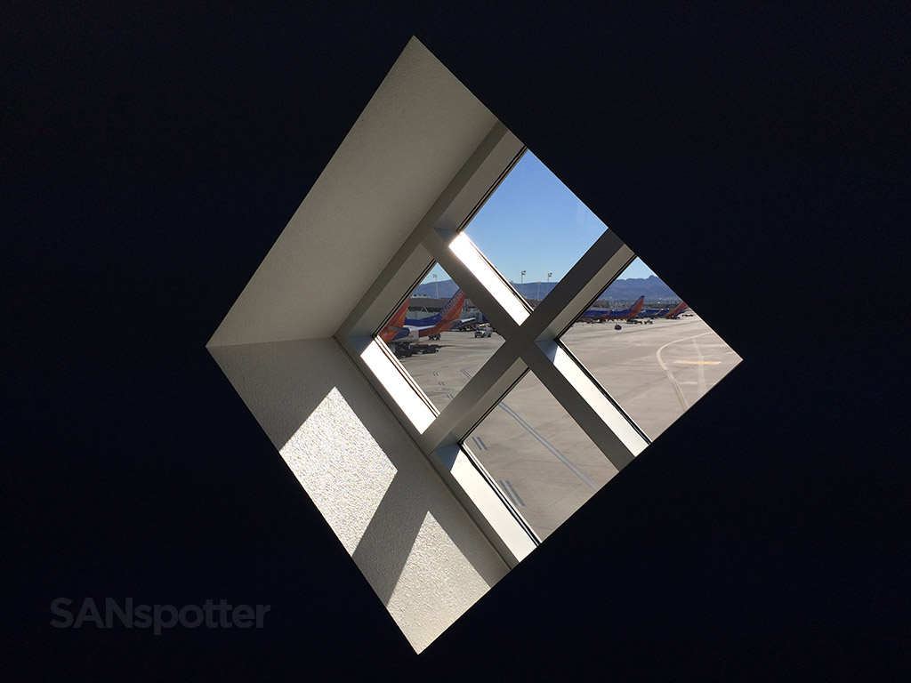 looking through the window at terminal C at LAS