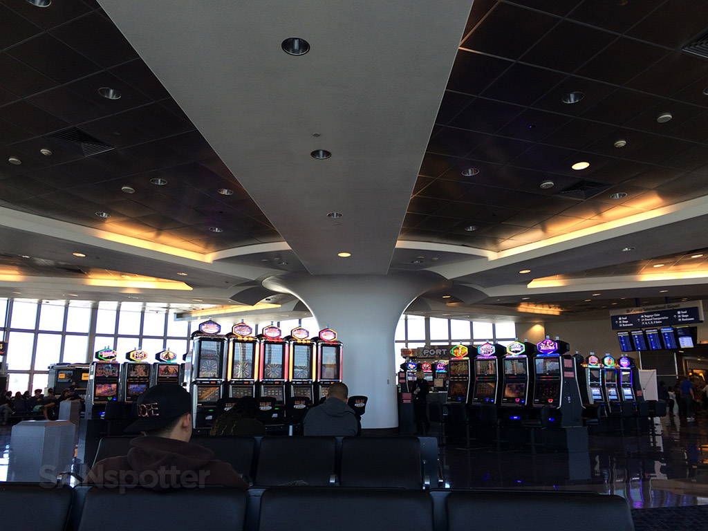 slot machines in terminal B at LAS