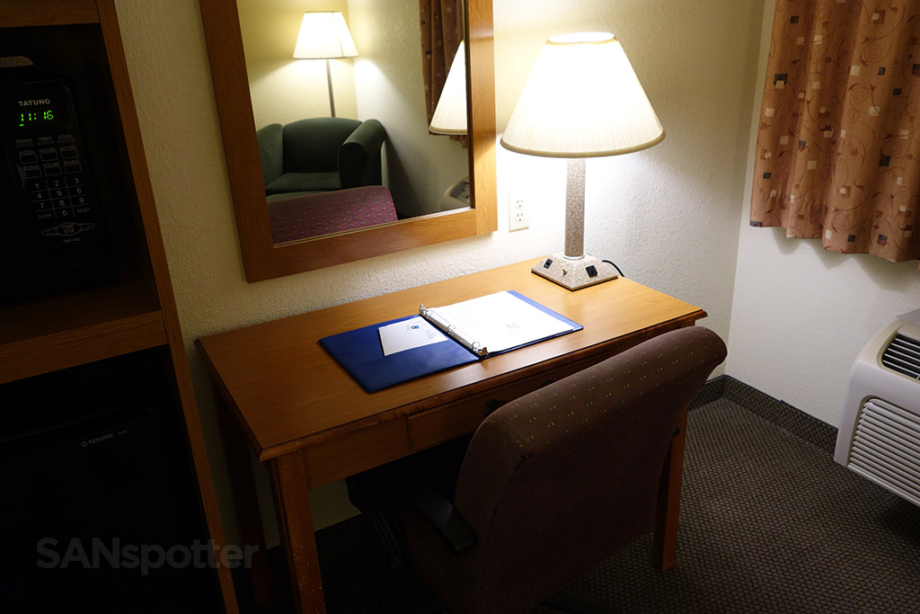 small work desk comfort inn deming new mexico
