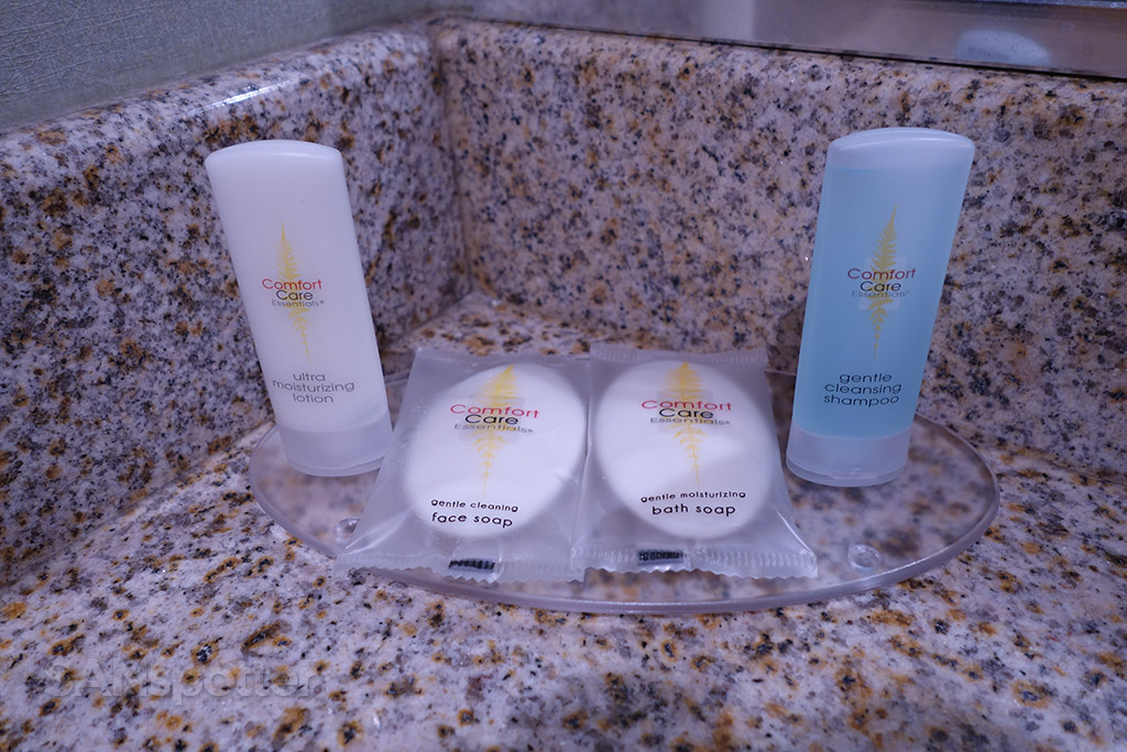 Comfort Care amenities in the bathroom