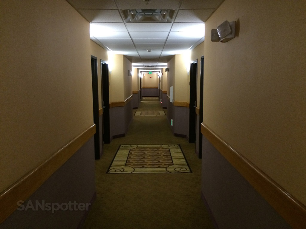dark hallway comfort inn and suites