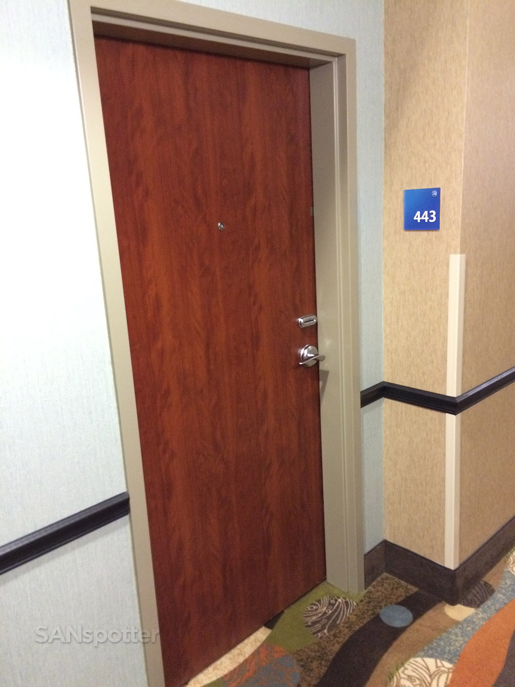 holiday inn express room door