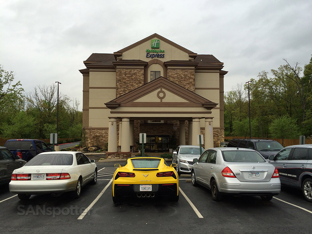 Exterior of the Holiday Inn Express in Maumelle, Arkansas