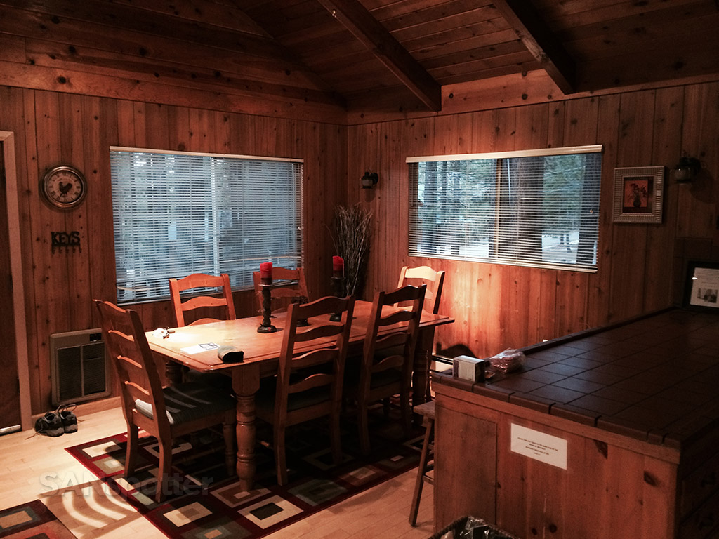 interior of our rental cabin at heavenly lake tahoe