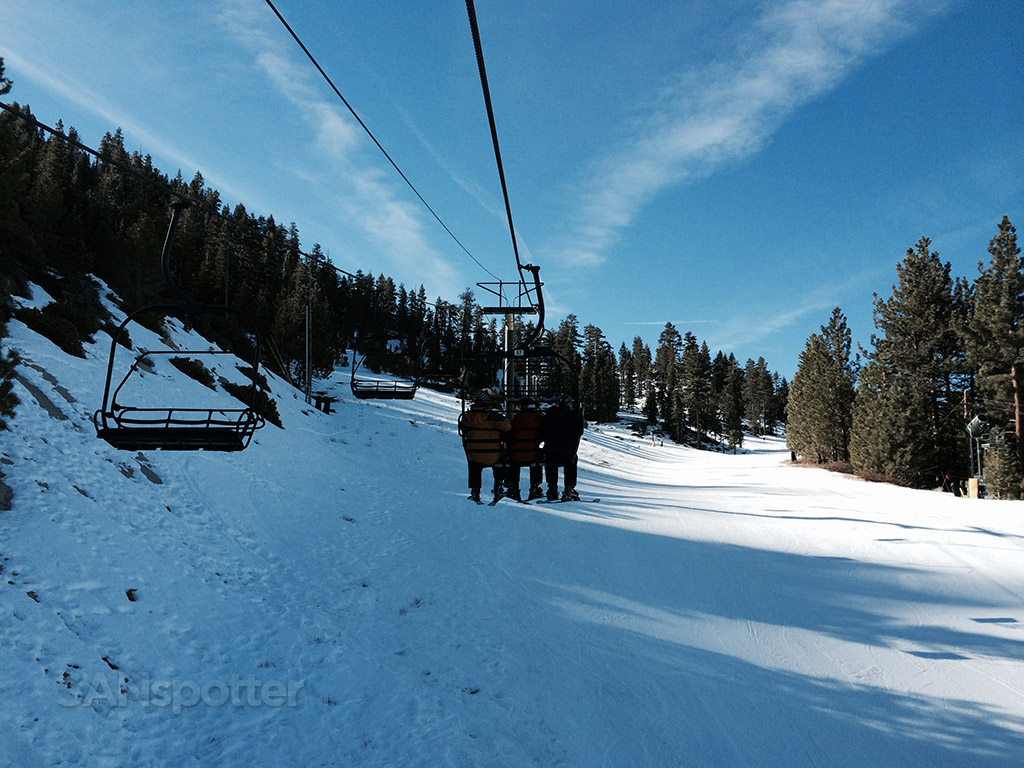 first chairlift ride at heavenly lake tahoe