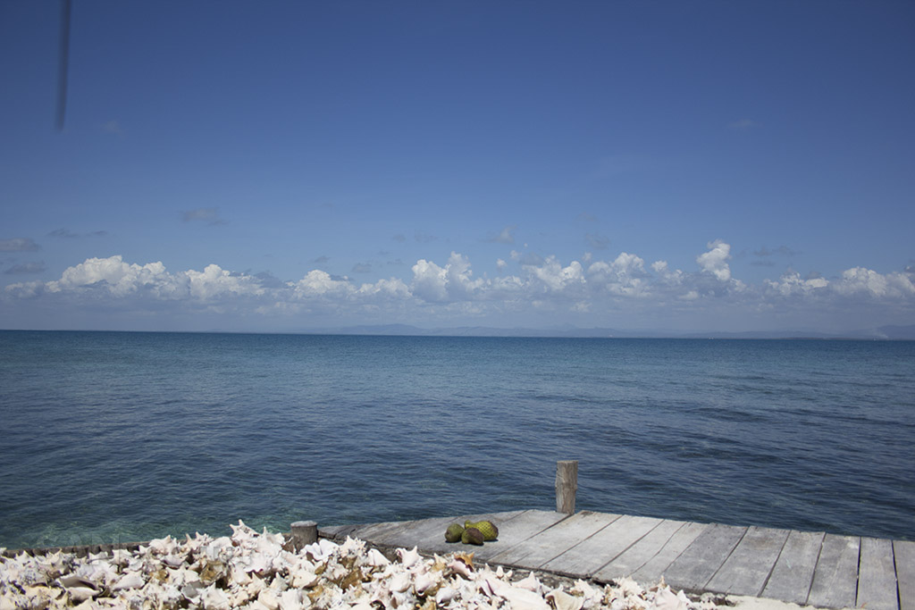 mainland belize off in the distance