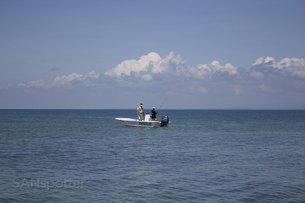 fishing boat catching dinner belize