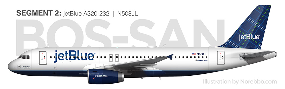 jetBlue A320 N508JL side view