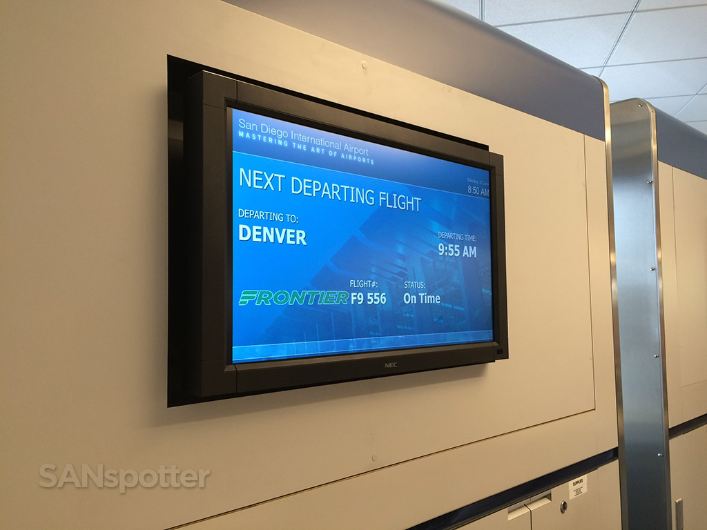 frontier airlines flight information board san diego airport