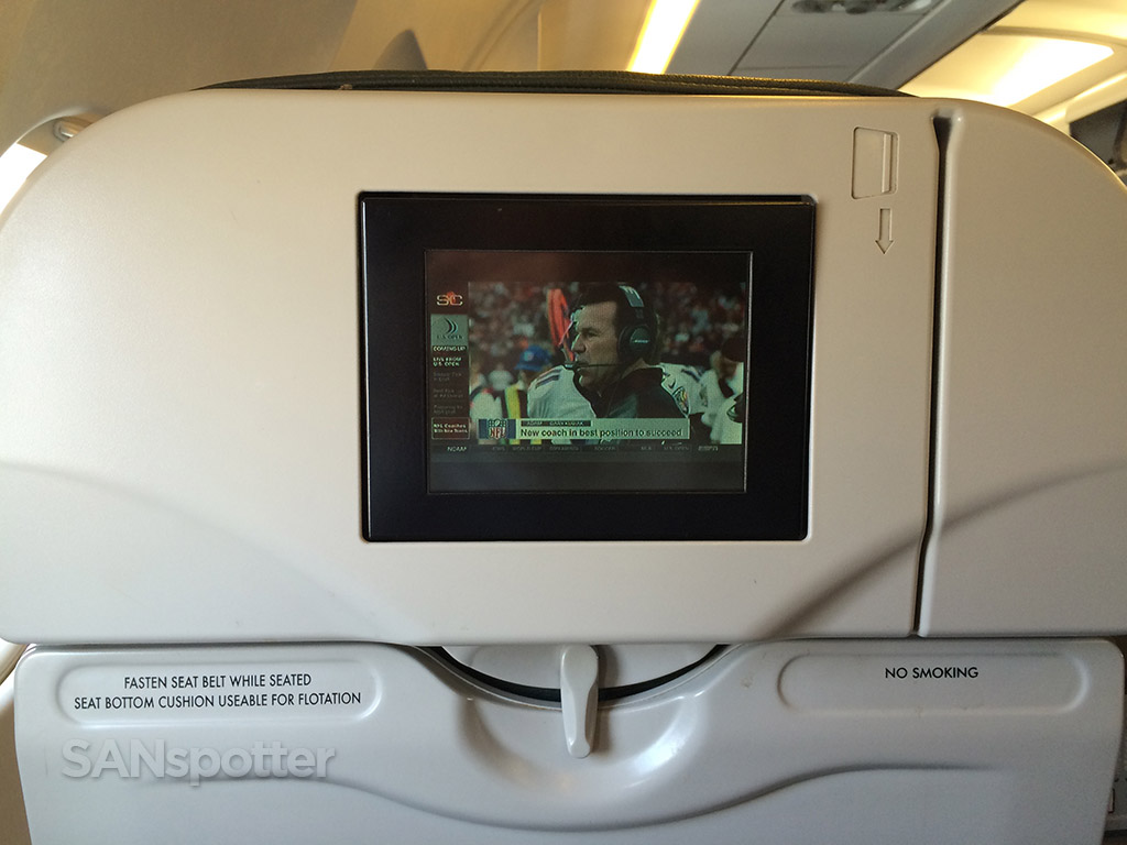 tiny video screen ptv frontier airlines a319