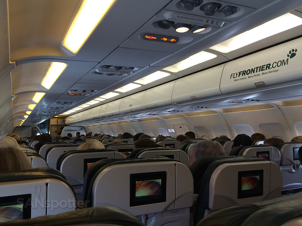 Frontier Airlines A319 Standard seat San Diego to Denver ...