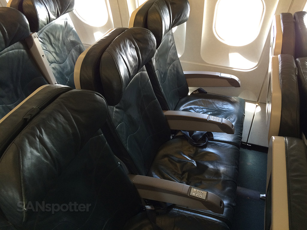 frontier airlines green leather seats