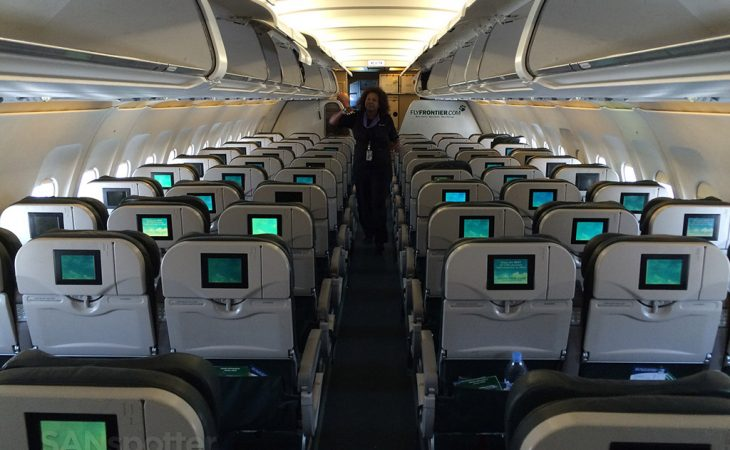 Frontier airlines A319 interior seats