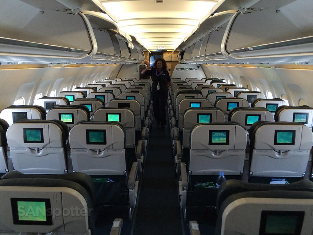 frontier airlines interior