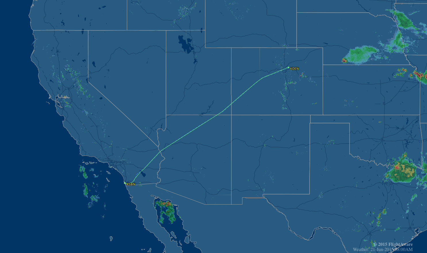 air route from denver to san diego