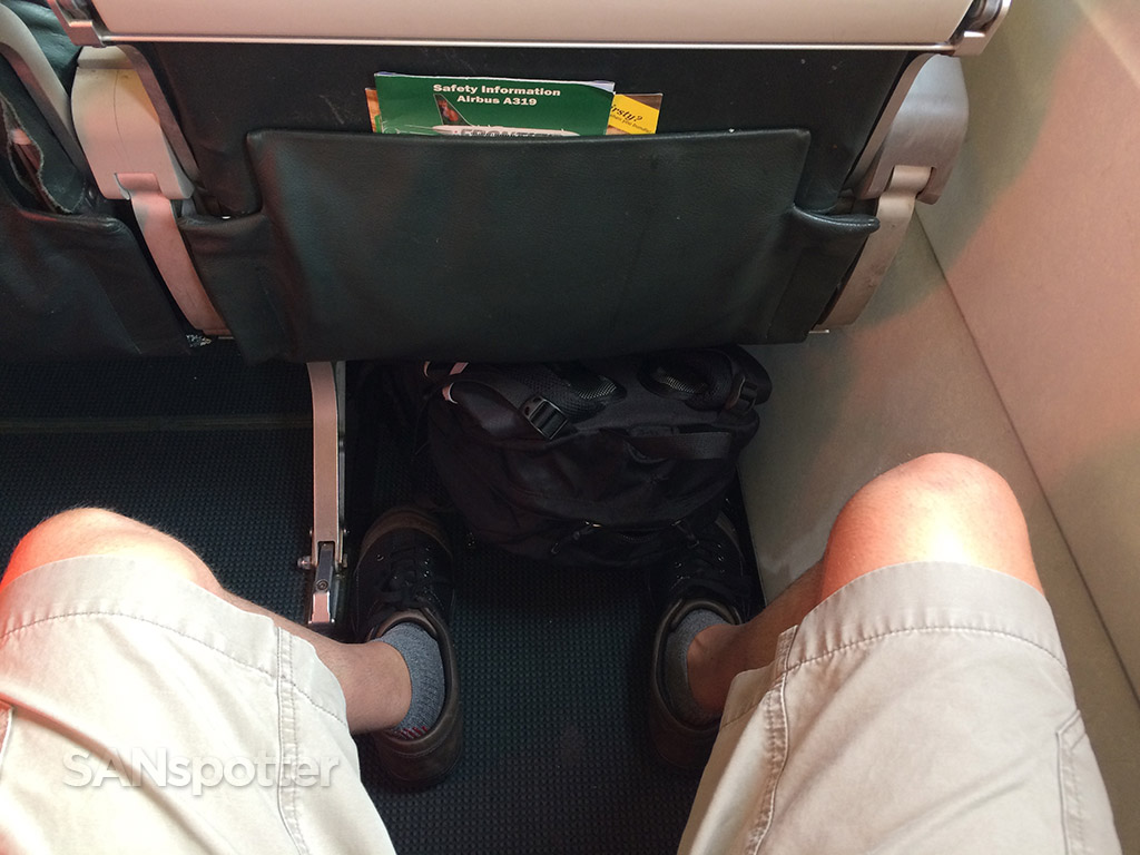 frontier airlines stretch seating legroom