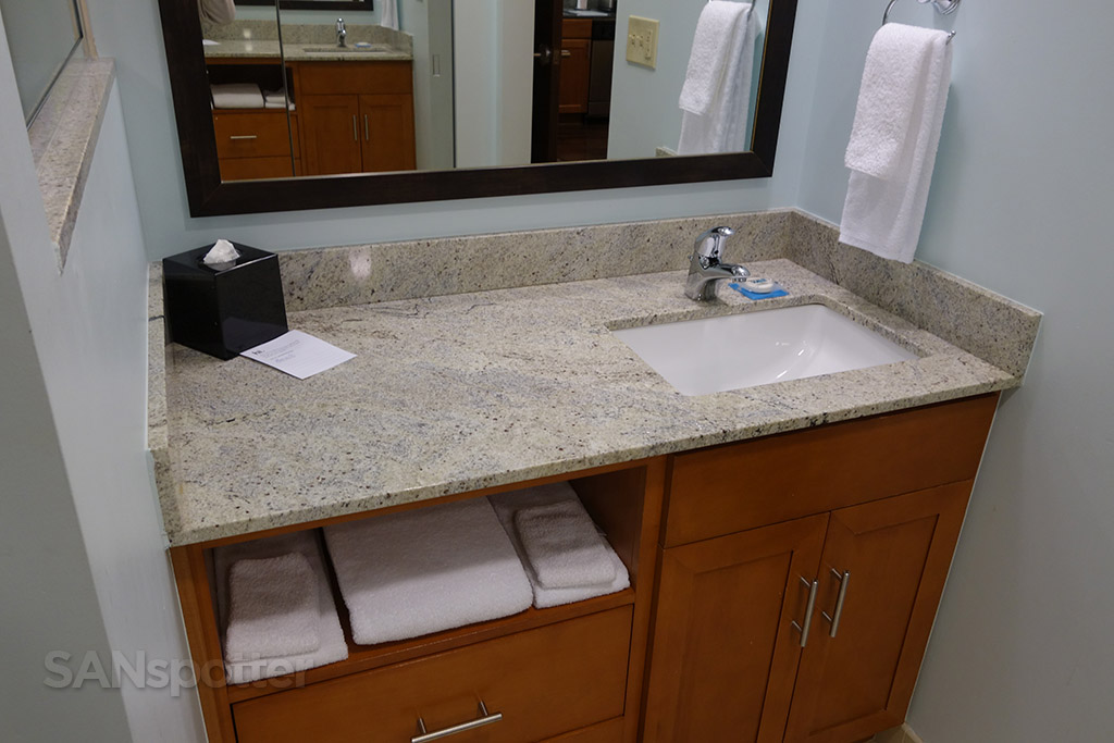 small sink hyatt house hotel room