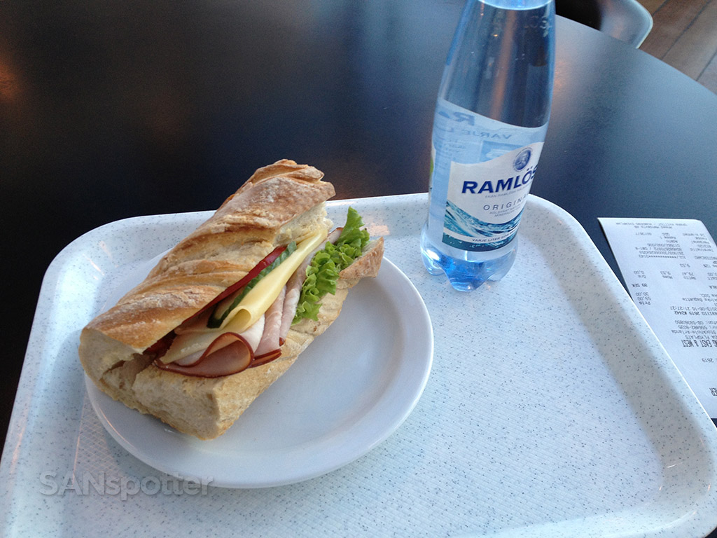 Ham and cheese baguette stockholm airport