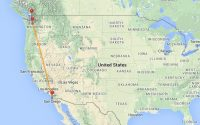 san diego to bellingham route map