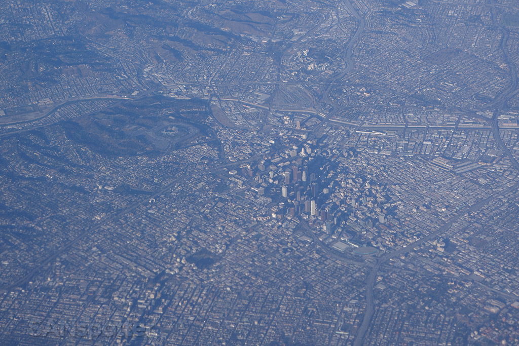 view of los angeles from the air