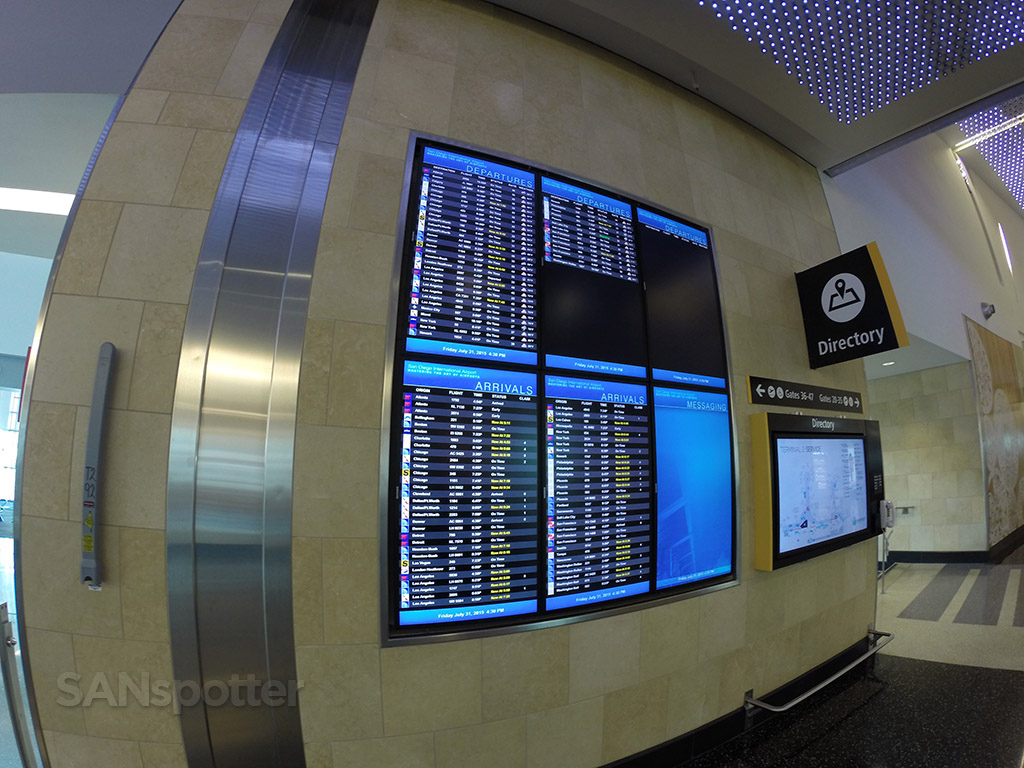 san diego airport flight information boards