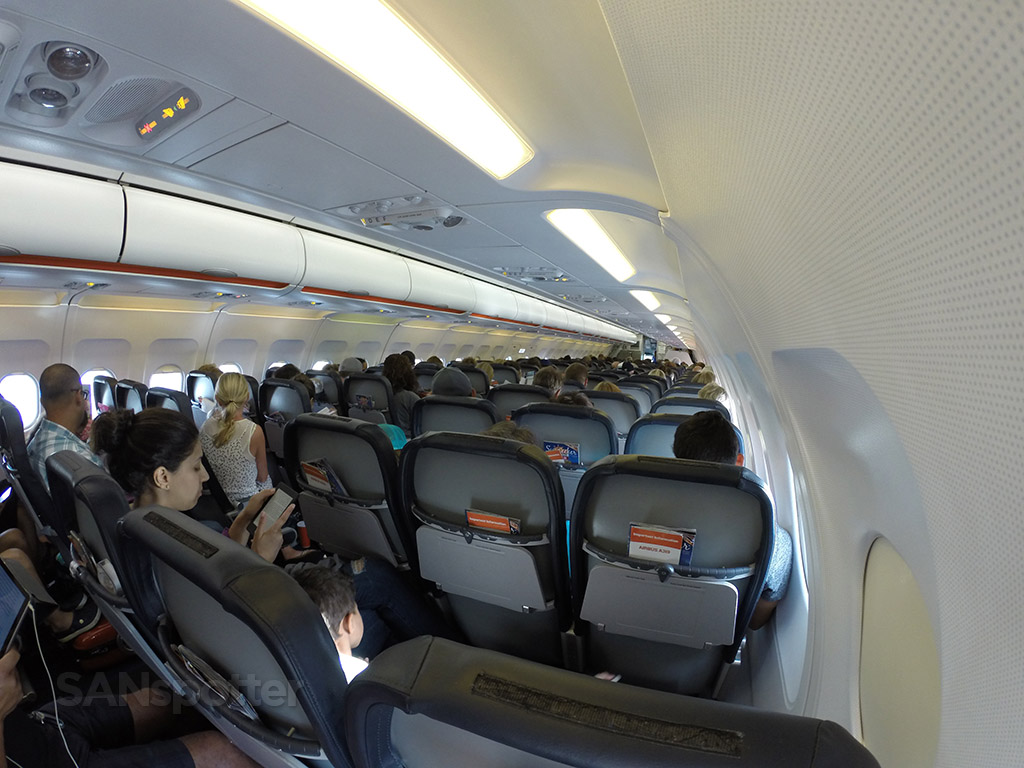 wide angle a319 interior photo