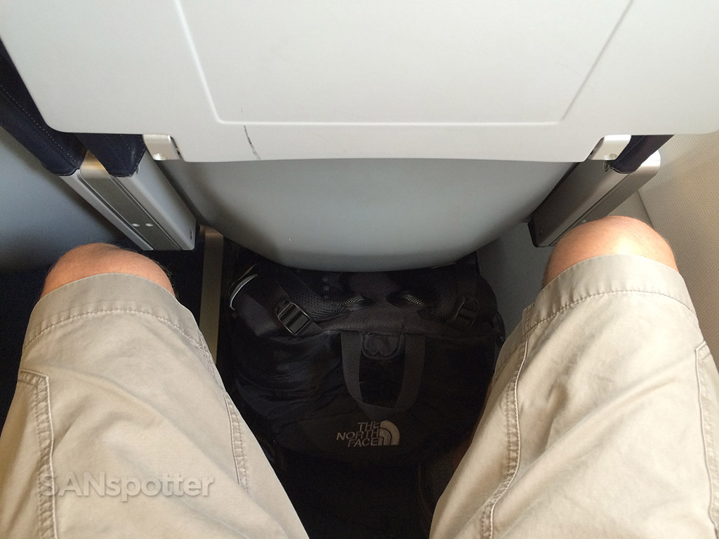 tight seat pitch allegiant air