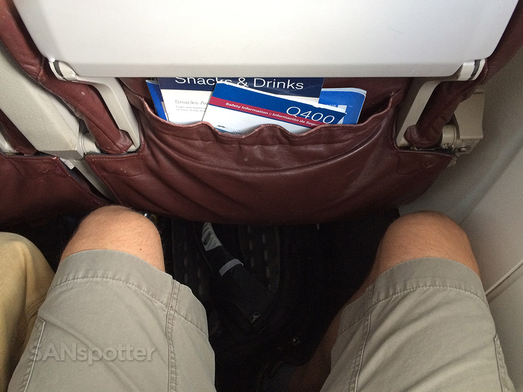 horizon air q400 economy class leg room