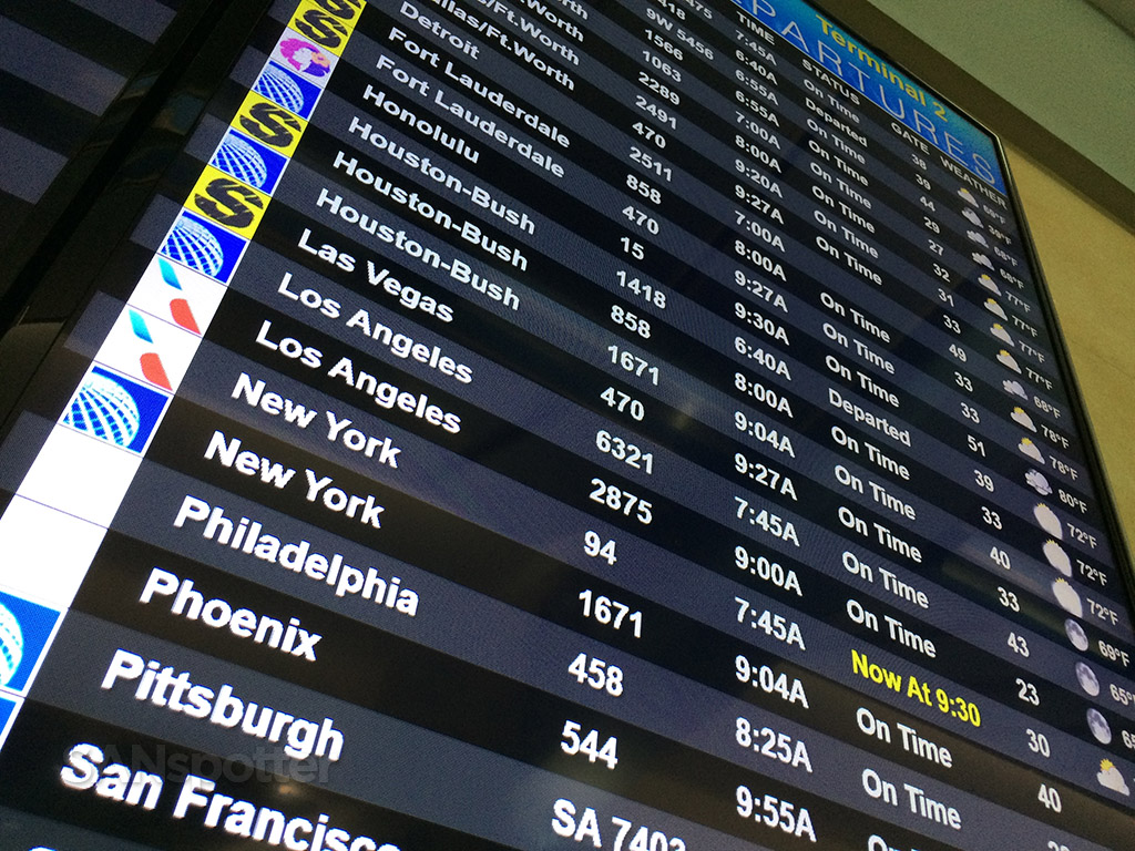 san diego flight departure boards