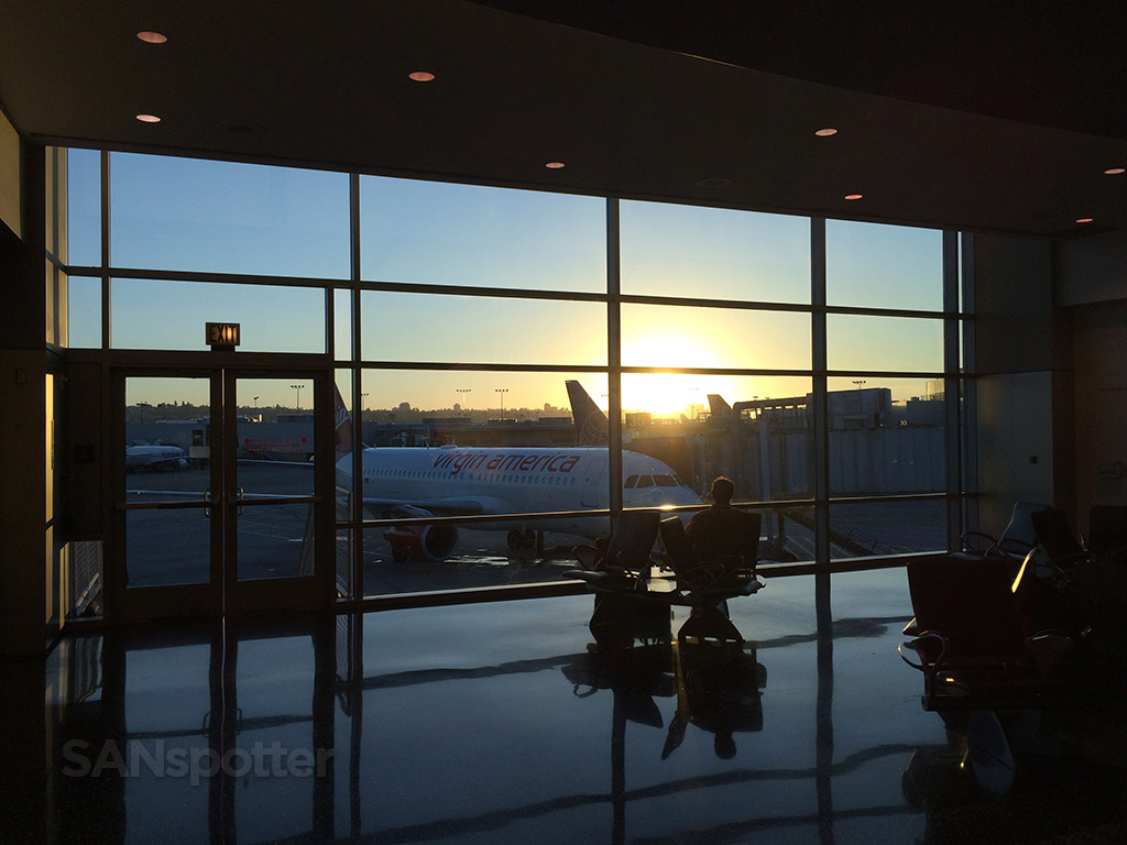 sunrise at san diego international airport