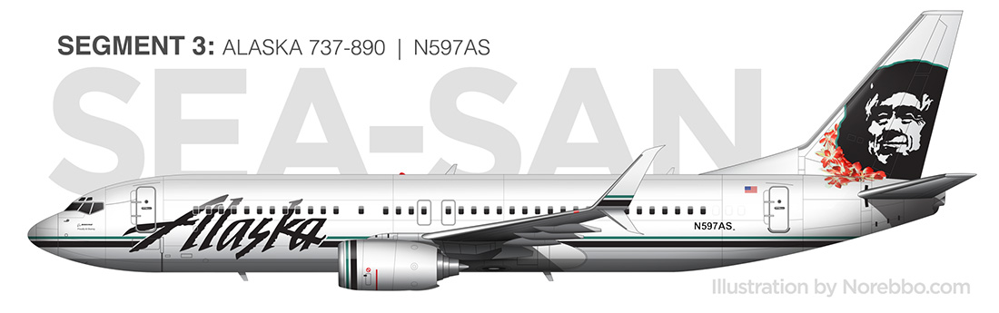 alaska airlines 737-800 drawing